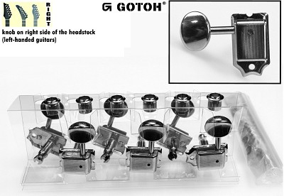 Gotoh SD91-N-05M Vintage Tuner set for Electric Guitar (6 RIGHT inline)